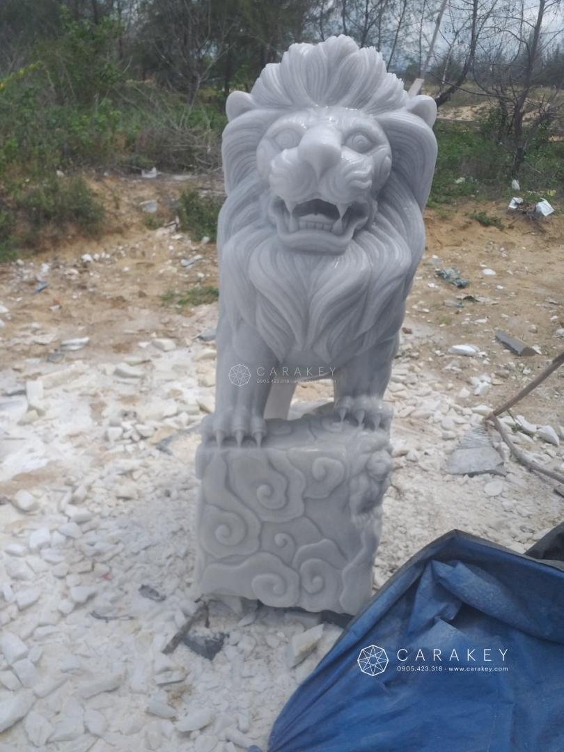 Cặp sư tử đá trắng, tượng đá phong thủy, tượng linh vật phong thủy bằng đá, tượng rồng đá phong thủy, tượng phật phong thủy đá, tượng phật đá phong thủy, tượng phật bà quan âm bằng đá thạch anh, tượng phật bằng đá thạch anh, tượng di lặc đá thạch anh