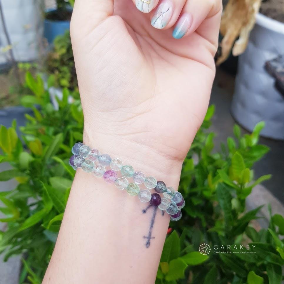 Chuỗi đeo tay Fluorit