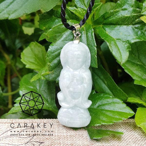 Phật quan âm đứng đá cẩm thạch