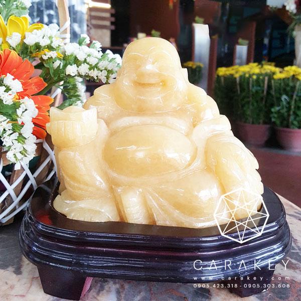 Phật di lặc thạch anh vàng